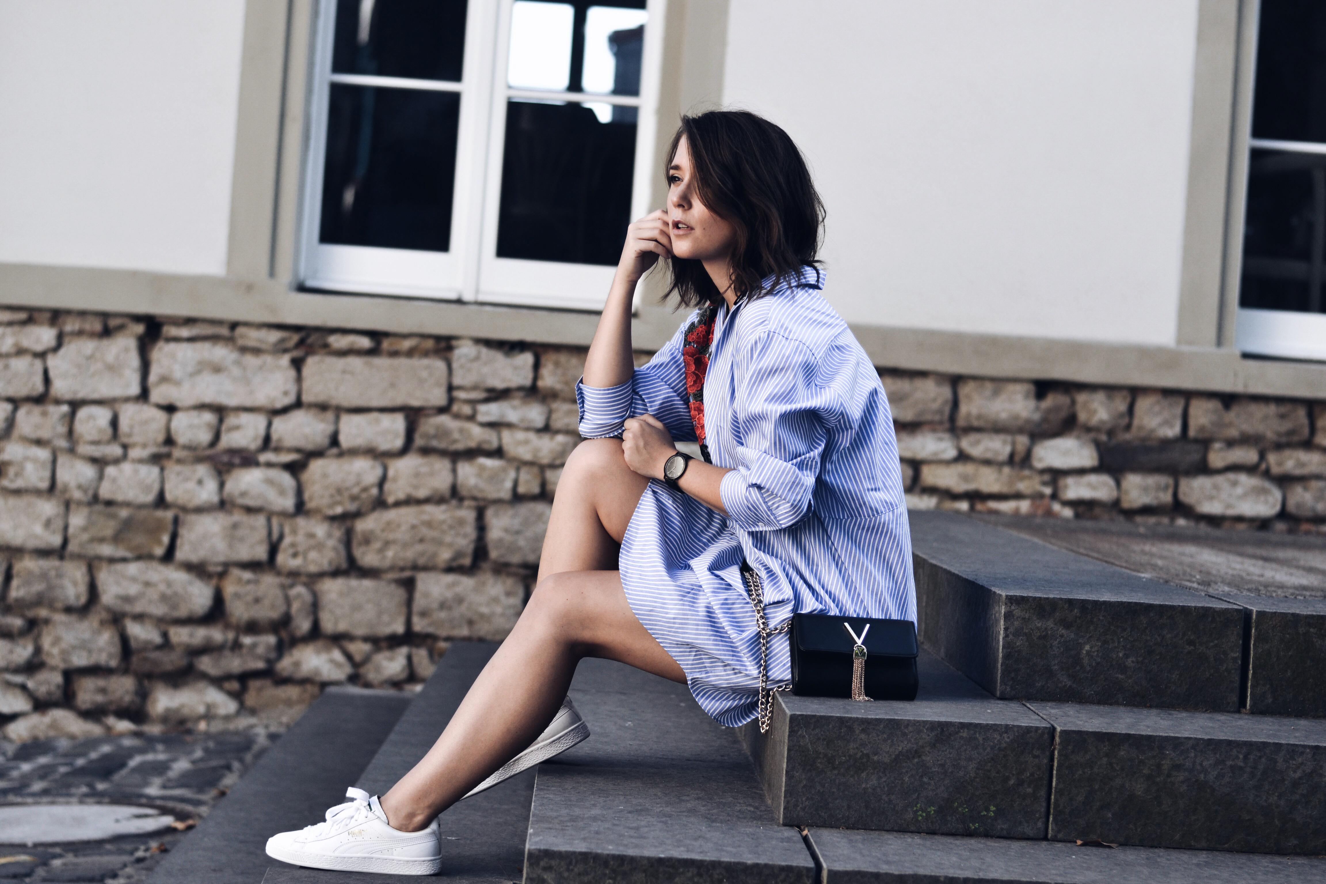 allthatchoices blogger mainz fashionblog zara longbluse stickerei gestreift valentino tasche longbob puma sneaker.JPG